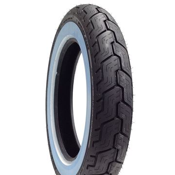 Picture of Dunlop D402 White Wall MT90HB16 Rear