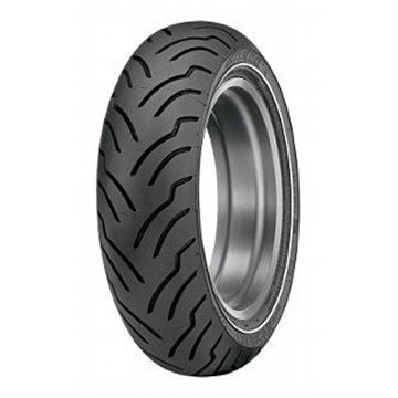 Picture of Dunlop American Elite Narrow White Wall 180/65B16 Rear