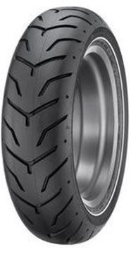 Picture of Dunlop D407 Narrow White Wall 180/65B16 Rear