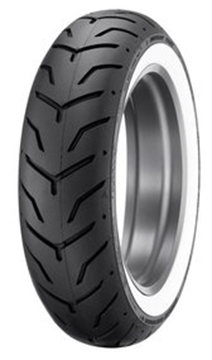 Picture of Dunlop D407 White Wall 180/65B16 Rear