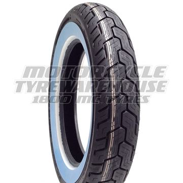 Picture of Dunlop D402 White Wall MU85B16 Rear