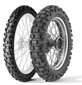Picture of Dunlop D606 (DOT) PAIR DEAL 90/90-21 + 130/90-17 *FREE*DELIVERY*