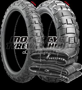 Picture of Bridgestone AX41 PAIR DEAL 90/90-21 (54Q) + 130/80B17 (65Q) *BONUS*TUBES* *FREE*DELIVERY*